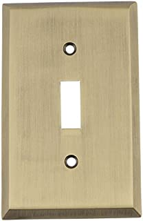 Nostalgic Warehouse 719698 New York Switch Plate with Single Toggle, Antique Brass