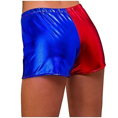 Wicked Costumes Adulto Mujer Rojo y Azul Brillante Hot Pants X-Small Fancy Dress Shorts