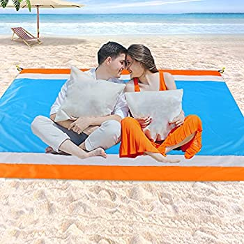 Beach Blanket Sandproof Waterproof Oversized Sand Free Beach Mat Picnic Blanket Quick Drying Picnic Mat Outdoor for Travel Camping Hiking