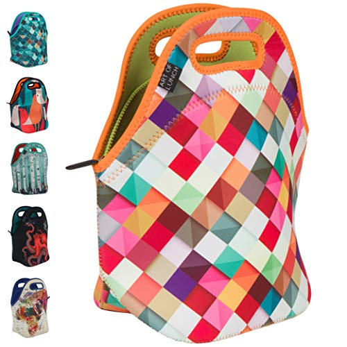 Art of Lunch Insulated Neoprene Lunch Bag for Women, Men and Kids - Reusable Soft Lunch Tote for Work and School - Design by Danny Ivan (Portugal) - Pass This On
