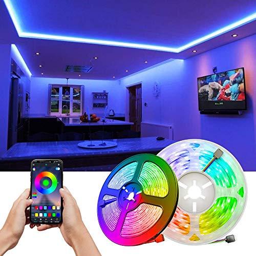 TID LED - Super oferta Kit Tira LED RGB 5M 5050 IP20 12V 300LED con controlador RGB WIFI + 24 botones + Transformador de alimentación enchufe de 12V 5A 60W.