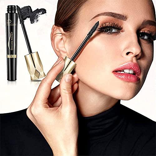 2PCS Crown Mascara, Mascara Fibre 4D Lash - Fournitures d'extension de cils soyeux, Mascara Set de maquillage Mascara naturel
