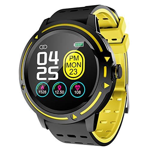 Baiyi Smartwatch voor heren, waterdicht, scherm, hartslagmeter, bloeddruk, smartwatch, sport, fitness transmitter, met slaapmonitor en stappenteller