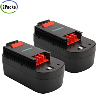 Creabest 2Packs 18V 3.5Ah Ni-MH Replacement Battery for Black and Decker 244760-00 A1718 A18 HPB18 HPB18-OPE and Firestorm A18 FS180BX FS18BX FS18FL FSB18
