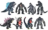 TwCare Set of 8 King Kong vs Godzilla Toys Movable Joint Action Figures King of The Monsters Birthday Dinosaur Kid Gift Cake Toppers