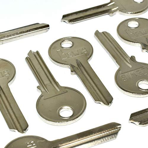 Pack of 10 x Keys Uncut Blank - Cylinder Lock Locks - Doors Door Security...