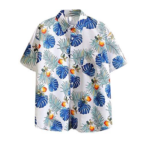 Find Bargain Mlide 2020 Summer Hawaiian Shirts for Men Casual Button Down Short Selvee Beach Mens Pa...