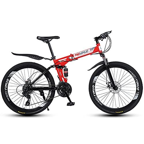 Liu Yu·casa creativa 26 Pulgadas Bicicleta de Montaña Plegable para Hombres y Mujeres Adultos, 21/24/27 Velocidad Bicicleta De Carretera, Freno De Disco Doble Bicicleta De Montaña Viajeros Urbanos