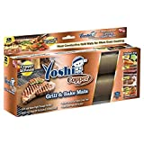 Yoshi Copper Grill Mats; Heavy Duty Up to 500 Degree; (2 grill Mats) Reusable.