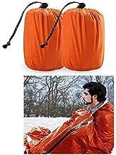 Zmoon Emergency Sleeping Bag 2 Pack Lightweight Survival Sleeping Bags Thermal Bivy Sack..