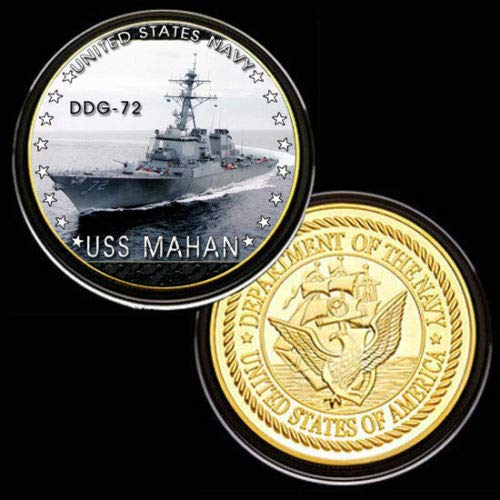 U.S. United States Navy | USS Mahan DDG-72 | Gold Plated Challenge Coin