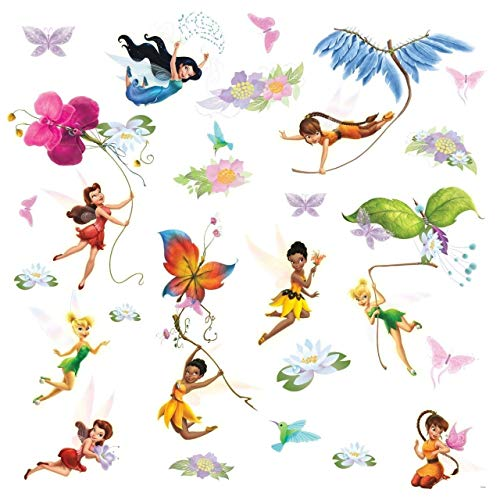 RoomMates Wandsticker Disney FAIRIES - FEEN mit Glitter!