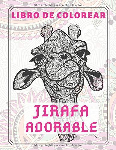 Jirafa adorable - Libro de colorear