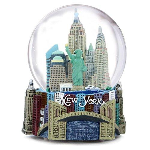 New York City Schneekugel mit Musik, 100 mm, New York City Schneekugeln, 14 cm hoch, spielt New York, New York