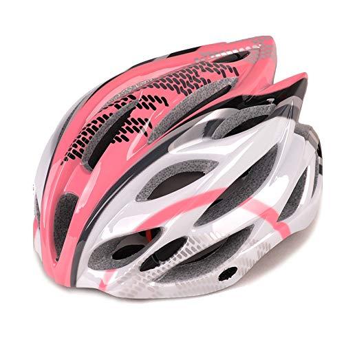 CHENGGUOFENG Montar en Bicicleta Casco Hombres Mujeres Casco de Deportes al Aire Libre de la montaña Bici del Camino del Protector Cascos (Color : 02Pink, Size : Gratis)