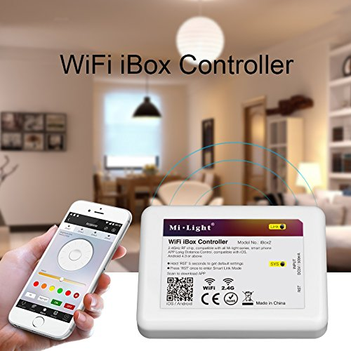 2,4Ghz WiFi LED Kontrolleinrichtung als kabelloser Dimmer für Mi-Lampen Serie RGB RGBW LED Leuchten iOS 5.0 iPhone iPad Samsung HTC Smartphone Tablet Kontrolle