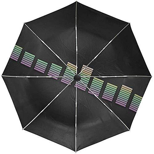 Paraguas automático Ecualizador de línea Viaje Multicolor Conveniente A Prueba de Viento Impermeable Plegable Automático Abrir Cerrar