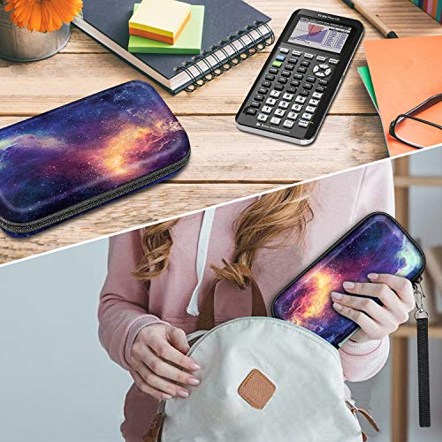 Graphing Calculator Carrying Case for TI-84 Plus CE, Fintie Hard EVA Shockproof Protective Box for TI-84 Plus/TI-83 Plus CE/Casio fx-9750GII (Galaxy) Photo #6
