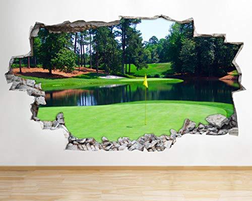 BB248 Wandaufkleber, Motiv: Augusta Golf Course Sport Smashed