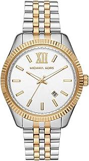 Michael Kors Lexington Men's White Dial Stainless Steel Analog Watch - MK8752