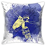 Skateboarder Jumping On Paint Spot con Splash InCustom Fashion Square Funda de almohada para sofá, dormitorio, oficina, 45,72 x 45,72 cm