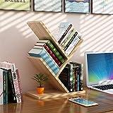 Librería de estantería de 3 estantes, bastidor de almacenamiento para oficina en el hogar, fácil instalación, organizador de exhibición de estantería de árboles de MDF de calidad para libros, revistas