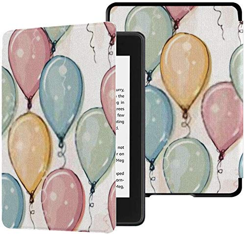 All-new Kindle Paperwhite Water-safe Fabric Cover(10th Generation, 2018 Release), Hand Drawn Colorful Balloons Vector Pattern Tablet Case