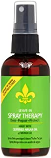 DermOrganic Leave-in Shine Spray Therapy with Argan Oil - Seal, Repair, Protect, 3.4 fl.oz.