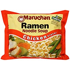"""Maruchan Chicken Flavor Ramen Noodle Soup Maruchan Chicken Flavor Ramen Noodle Soup Country of origin is United States The package dimension of the product is 10.5""""L x 7.9""""W x 4.3""""H"""