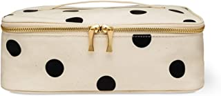 Kate Spade New York Insulated Lunch Carrier Bag for Women, Travel Makeup Bag, Polka Dot Toiletry Bag with Double Zipper Close and Top Handle, Deco Dot (large)