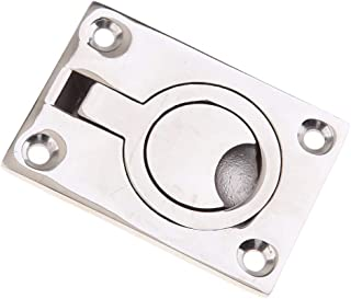316 Stainless Steel Pull Flush Trap Door 63Mm X 44Mm Silver For Boat For Marine