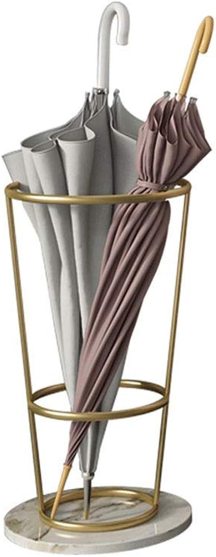 MYQ Umbrella Stand, Metal Marble Umbrella Stand Hotel Lobby Umbrella Storage Rack 2 color Optional (25x55cm) Hallway Umbrella Stand (color   gold, Size   25x55cm)