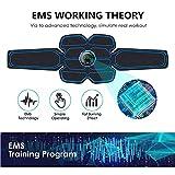 Electroestimulador Muscular Abdominales, Masajeador Eléctrico Cinturón con USB, Estimulación Muscular Masajeador Eléctrico Cinturón Abdomen/Brazo/Piernas/Glúteos