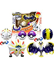Anime Pokemon Elf Ball Solgaleo Lunala Deformation Pokeball Leksaker Transform Action Action Pocket Monster Dolls Barn Jul Nyår Gåvor