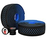 2 Rolls Handlebar Tape, Bike Bar Tape, Non-Slip EVA Cycling Handle Warps With End Plugs, Self-Adhesive Strips, Extra Long GEL, Durable & Breathable, Shock-absorbing, For Road Mountain Bike, 5 Colors