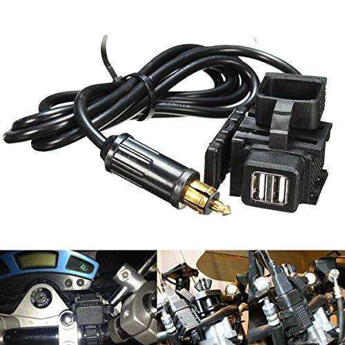 GOZAR 12-24V motorfiets GPS mobiele telefoon Dual USB voeding aansluitbus oplader voor BMW