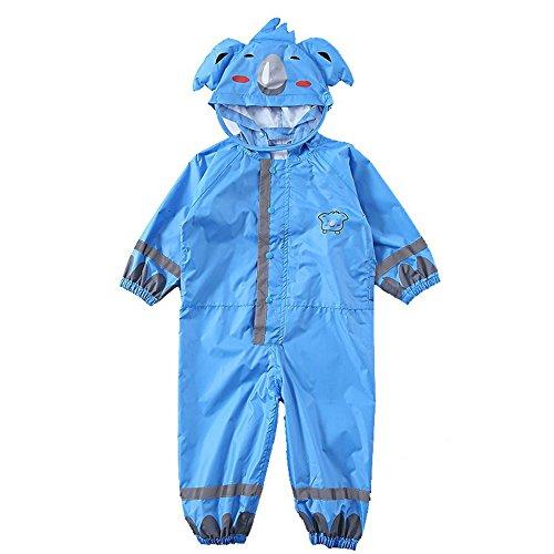 Kids Regen Poncho Slijtvaste Regenjas Koala Blauw Dunne Hooded Regenjas Kinderen Baby Een stuk Regenjas Groen L