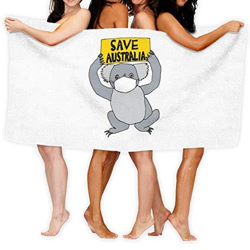 Save Australia Fires Toalla de baño de secado rápido