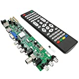 Andylies 3663 Nueva SeeAl Digital DVB-C DVB-T2 DVB-T Controlador de TV LCD Universal Tablero de Controladores ACTUALIZACIóN 3463A USB Ruso LUA63A82