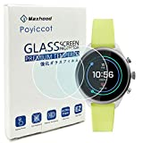 Tempered Glass for Fossil Sport 2018 Screen Protector,Poyiccot 2pack Ultra-Thin 9H Hardness Anti-Fingerprint Screen Protector for Fossil Sport 41mm Gen4 Smartwatch 2018