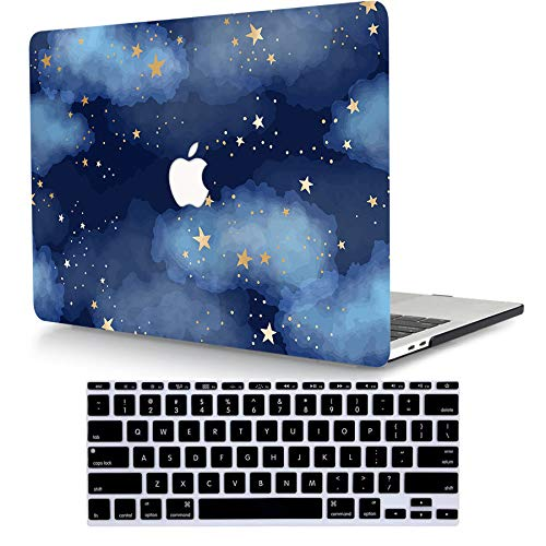 ACJYX Case Only Compatible with MacBook Pro 13 inch with CD-ROM 2012 2011 2010 2009 2008 Release Old Version Model A1278, Protective Plastic Hard Shell Case with Keyboard Cover, Blue Starry Sky 3