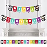 Big Dot of Happiness Day of the Dead - Birthday Party Bunting Banner - Sugar Skull Birthday Party Decorations - Happy Birthday