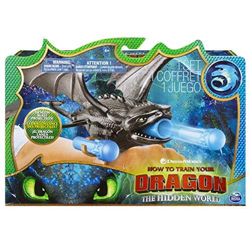 Dragons 3–6045115–Juego infantil–Figura de acción–Lanzador de muñecas–Película Dragons 3el mundo oculto–Modelo Aleatorio
