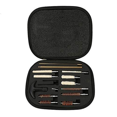 Alomejor 16 Pz Multi Gun Kit di Pulizia Caso Shotgun Cleaner Brush Rod Manutenzione con Borsa per Fucile Pistola a Pompa