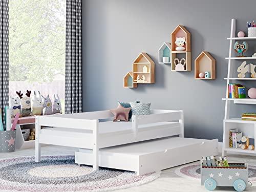 Children's Beds Home - Cama Individual Con Nido - Mateo Para Niños Niños Niño Niño Junior - Mateo - 190x90, Blanco, Ninguno