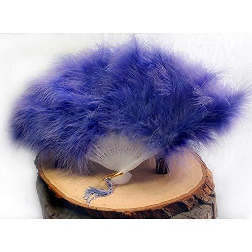 Quasimoon PaperLanternStore.com Feather Hand Fan - Lavender