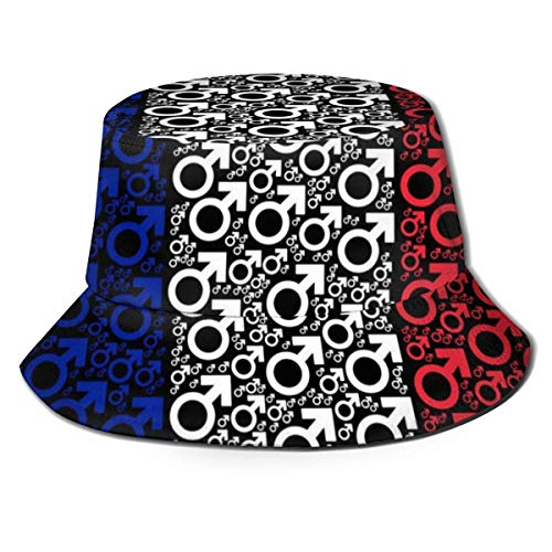 Lawenp Bandera de Francia Collage de símbolo de Marte Hombres Mujeres Sombrero de Sol Sombrero de Pescador Protección UV Senderismo al Aire Libre Pesca Gorra de Moda Lavada