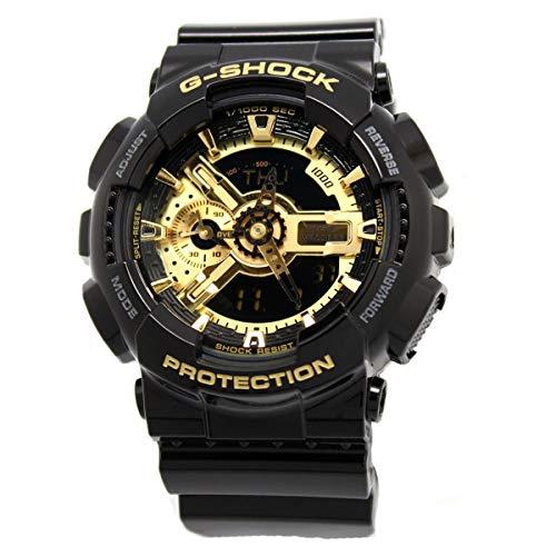 Casio G-Shock Men's Military GA-110 Watch, Black/Gold, One Size