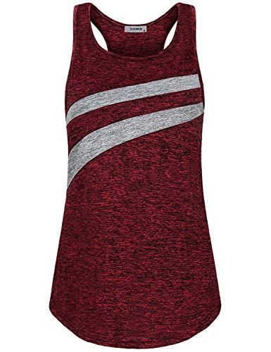 JCZHWQU Mujeres Racerback Yoga Tank Tops Sin Mangas Active Wear Entrenamiento Camisas -  Rojo -  Medium