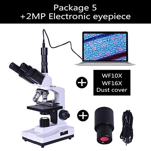 ANZQHUWAI Professioneel laboratorium biologische HD trinoculaire microscoop zoom 1600X ocular electronic 7 inch LCD-LED-licht USB-standaard smartphone